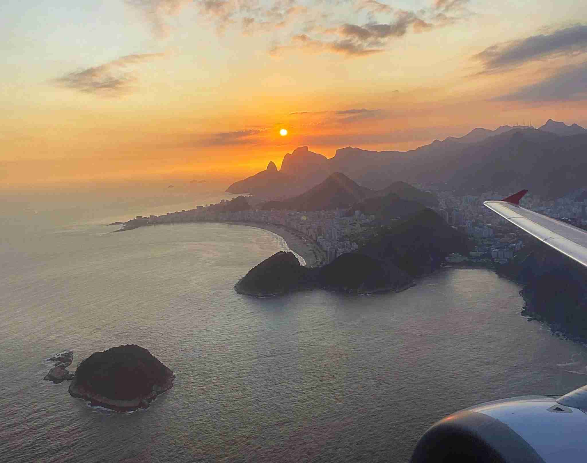 My favourite ever sunset from the wing was captured this year as I flew from Rio de Janeiro (SDU) to São Paulo (CGH) in Brazil (Photo by Daniel Ross/The Points Guy)