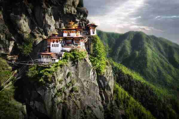 Tiger Nest Monastery in the Kingdom of Bhutan. (Photo by David Lazar/Getty Images)