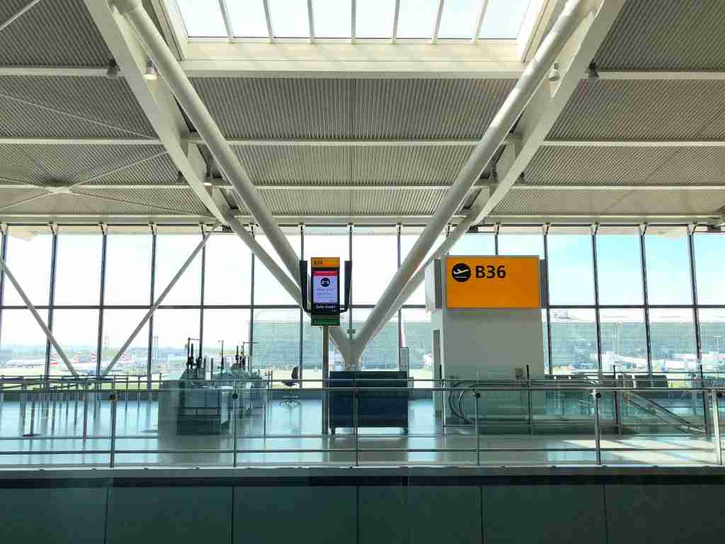 LONDON, ENGLAND - APRIL 15: A view inside a quiet Terminal 5 departure lounge at Heathrow Airport on April 15, 2020 in London, United Kingdom. The airport expects 90% fewer passengers compared to April last year, as governments continue to advise against non-essential travel due to the COVID-19 outbreak. Heathrow has prioritised cargo traffic and closed one of its two runways. (Photo by Richard Heathcote/Getty Images)