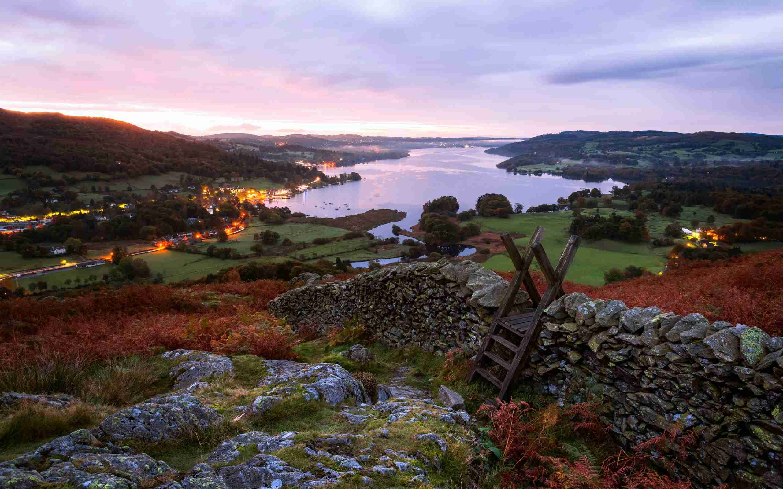 Lake Windermere from Loughrigg Fell, Lake District. (Photo by joe daniel price/Getty Images)