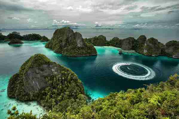 Raja Ampat, West Papua, Indonesia. (Photo by Ridwan Prasetyo/Getty Images)