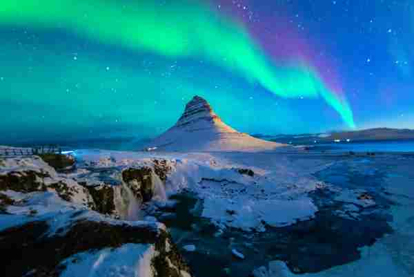 Aurora over Kirkjufell, Iceland (Photo by February/Getty Images)