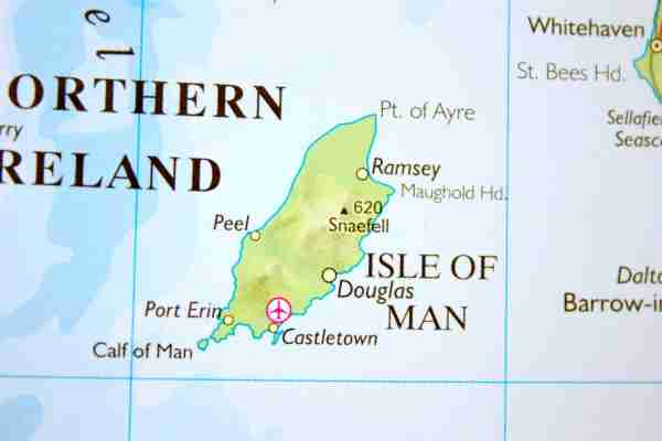 Map of the Isle of Man. Image by thisbevos / Getty Images