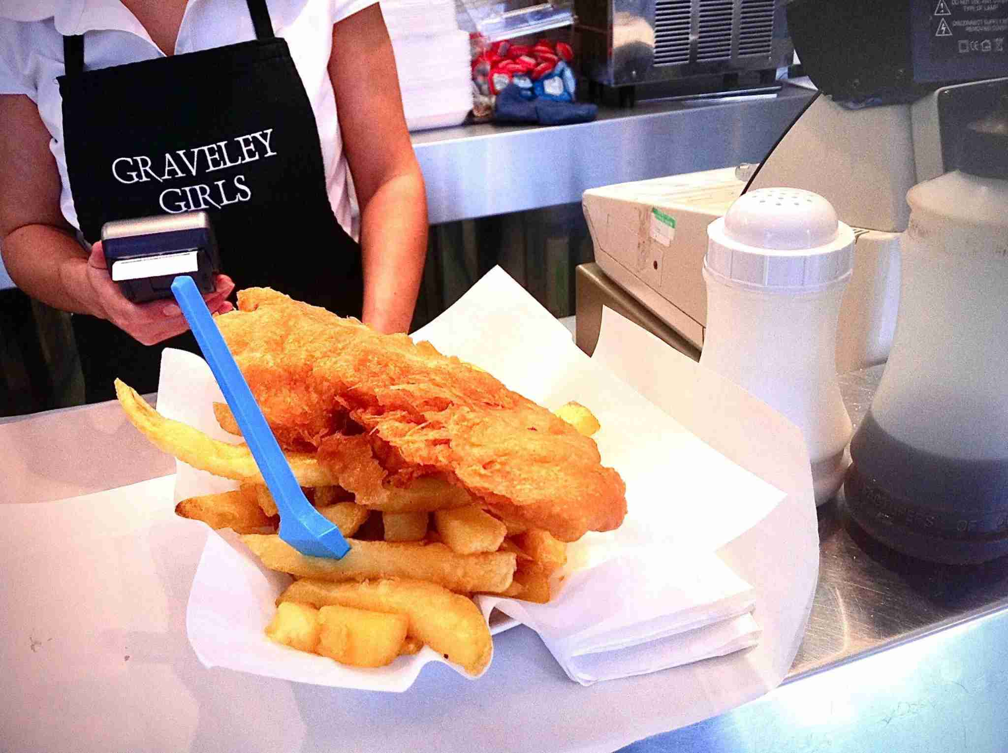 Fish and chips from Graveley