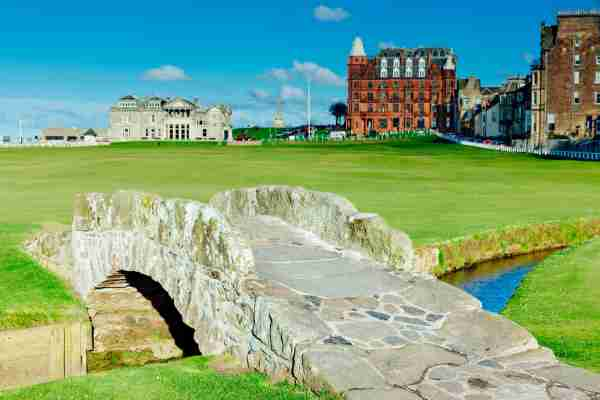 Old Course at St.Andrews, Scotland, looking up the 18th fairway from the Swilken bridge. AdobeRGB colorspace. (Photo by Lucentius/Getty Images)