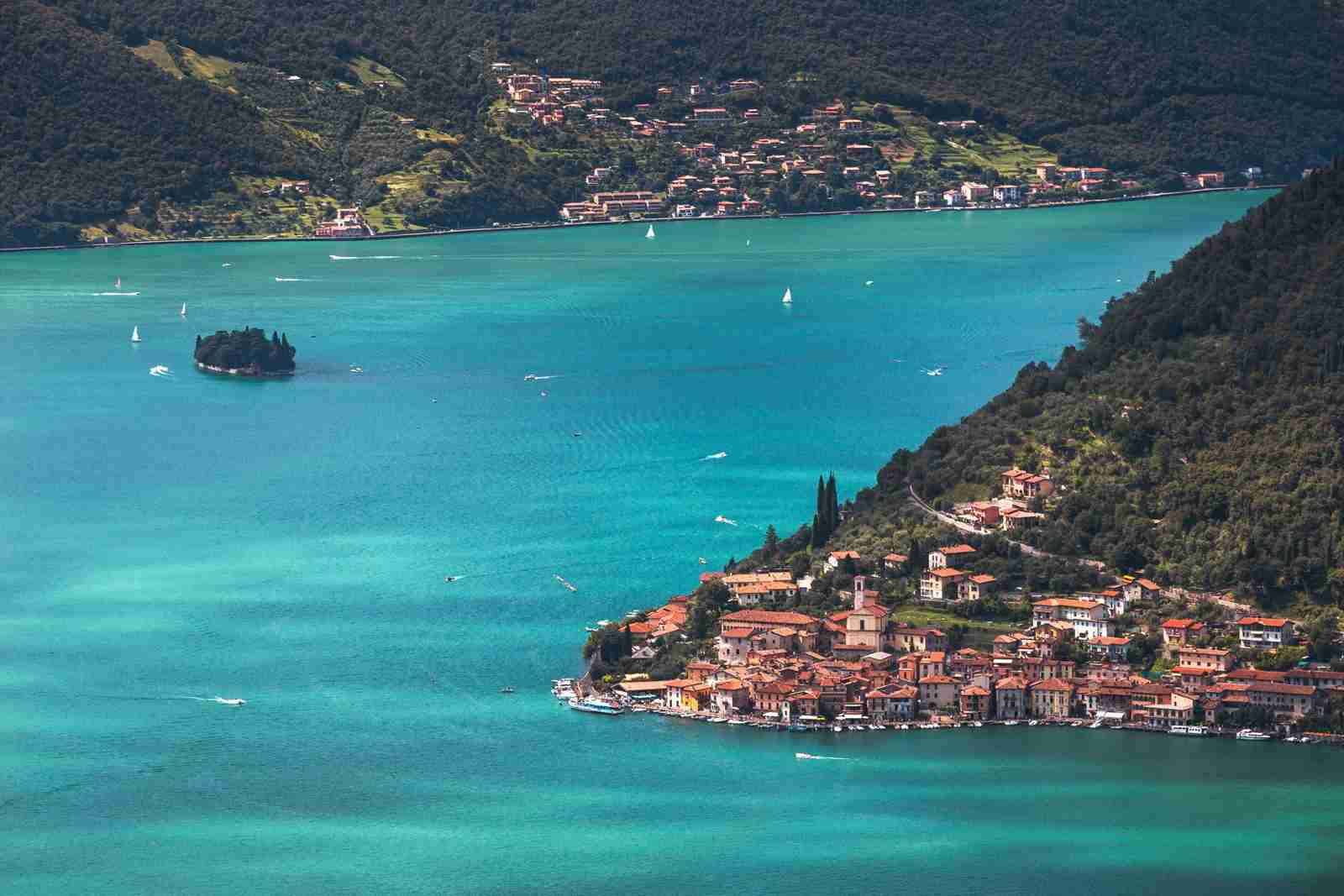 Monte Isola and Lake Iseo. (Photo by Matteo Rinaldi - RiMa Photo/Getty Images)