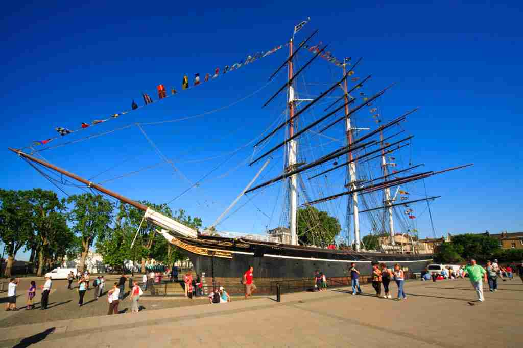 GREENWICH, LONDON, UNITED KINGDOM - 2006/07/15: Cutty Sark Tea Clipper ship in Greenwich. (Photo by Pawel Libera/LightRocket via Getty Images)