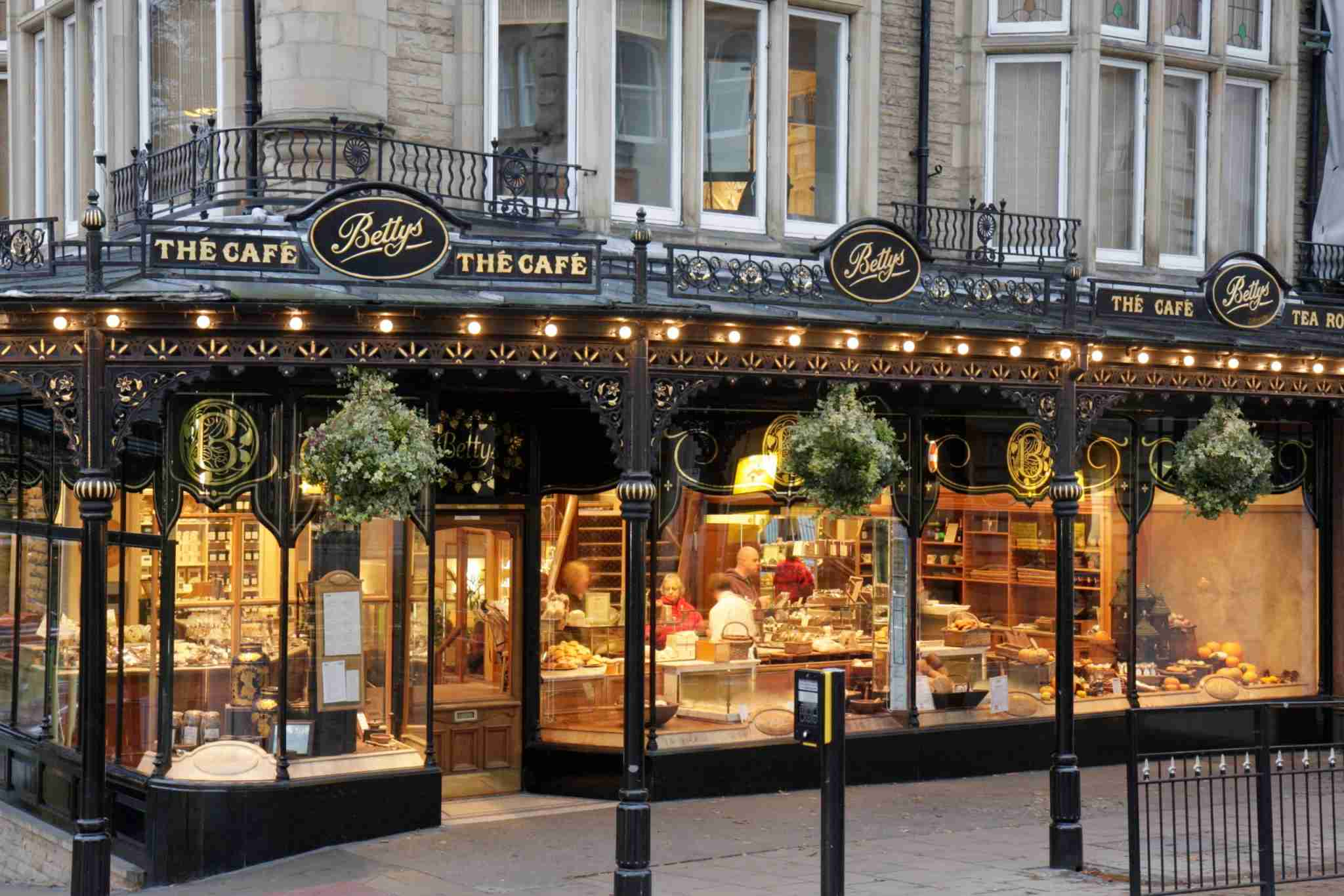 The exterior of Bettys The Caf_ on Parliament Street in Harrogate. (Photo by: Jeffrey Greenberg/Universal Images Group via Getty Images)