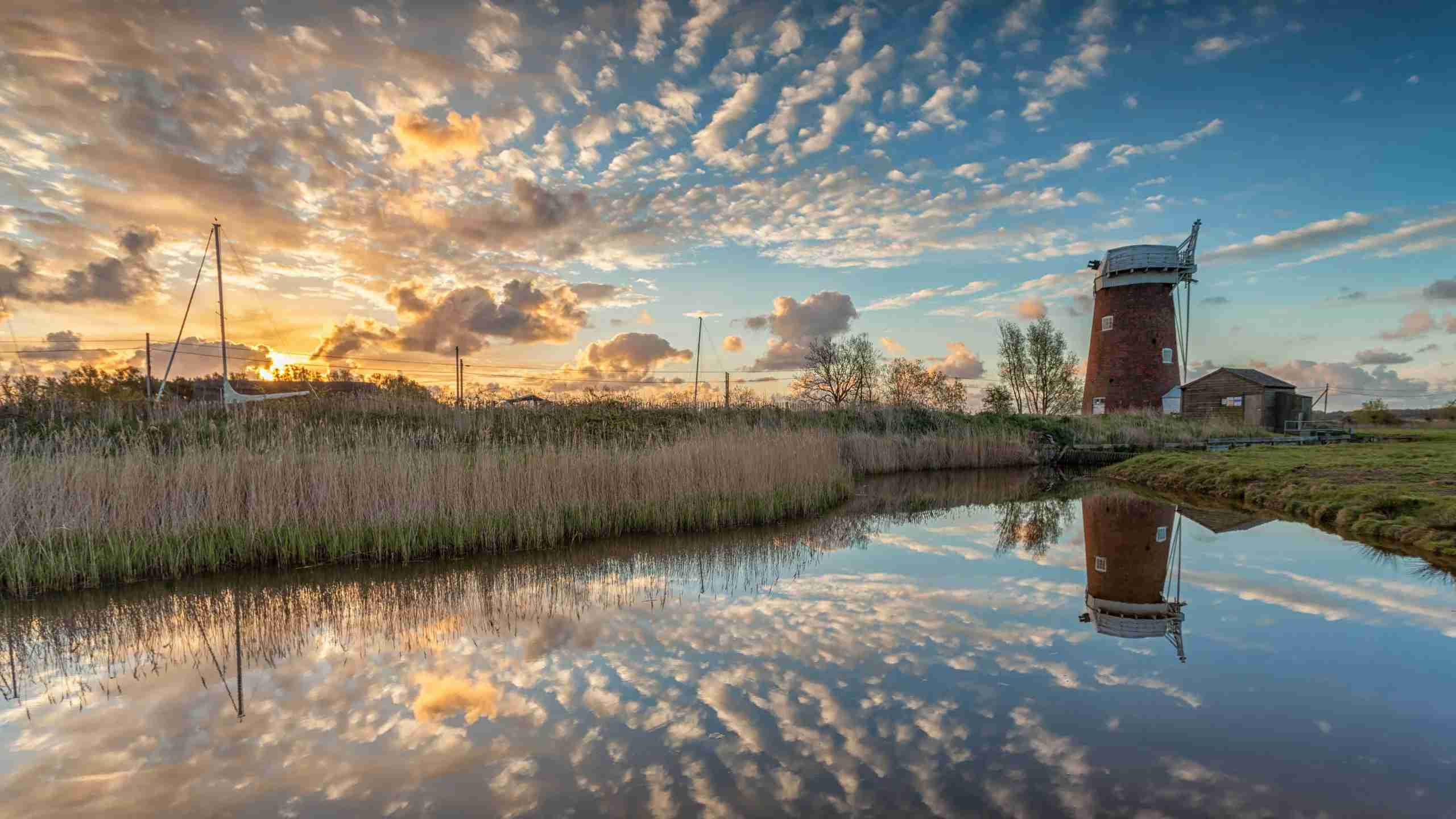 Traditional windmill on the Norfolk Broads. (Photo by George W Johnson/Getty Images)