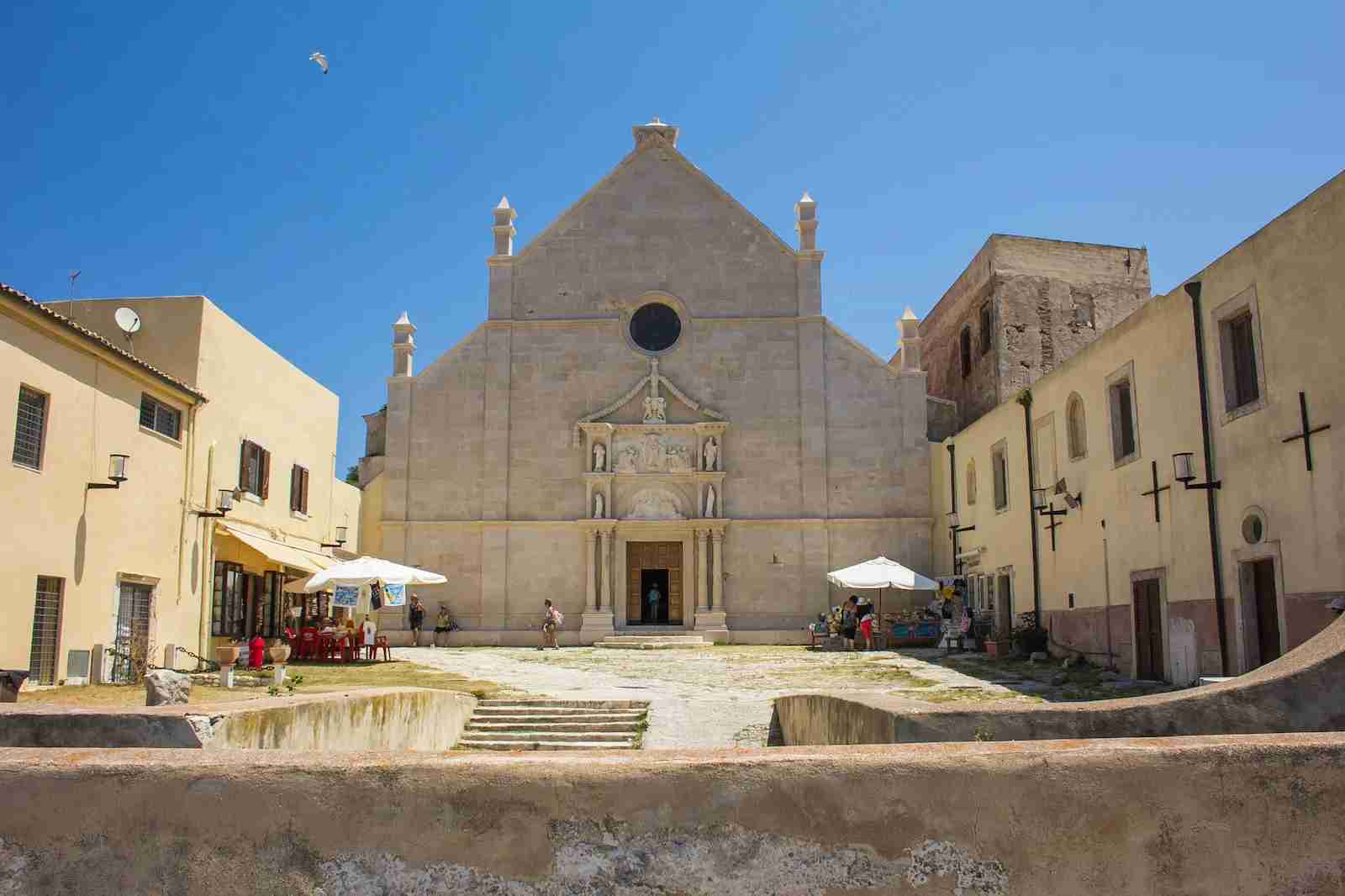 The sanctuary of Santa Maria a Mare in the San Nicola island. (Photo by Buffy1982/Shutterstock)