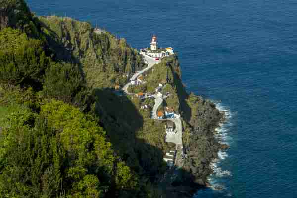 The Arnel lighthouse near Nordeste on Sao Miguel Island in the Azores in Portugal. (Photo by Patrick Donovan/Getty)