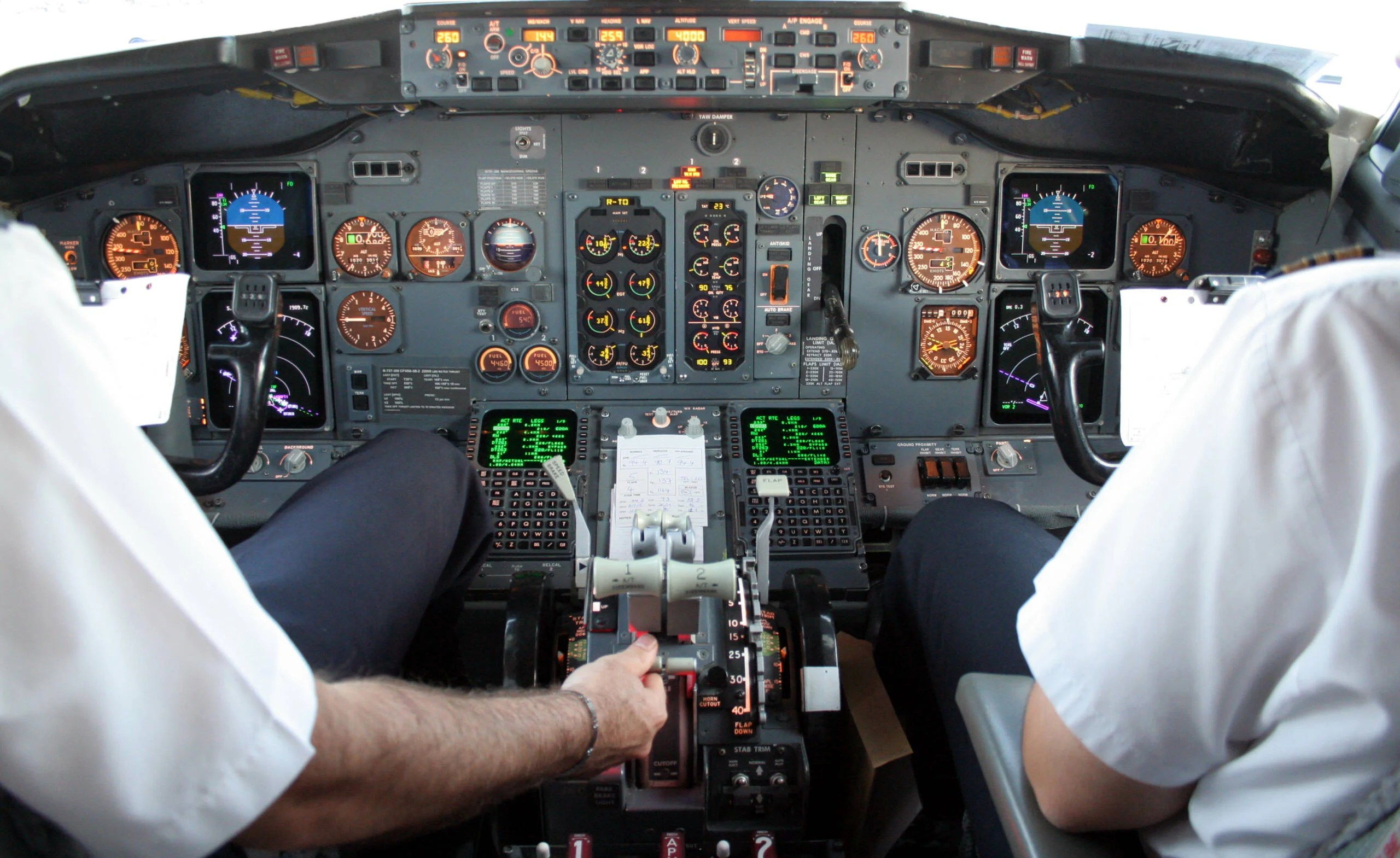 What happens when pilots have to fly without an autopilot?