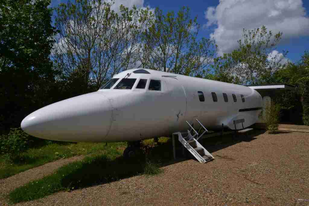 1970s private jet airbnb in wales