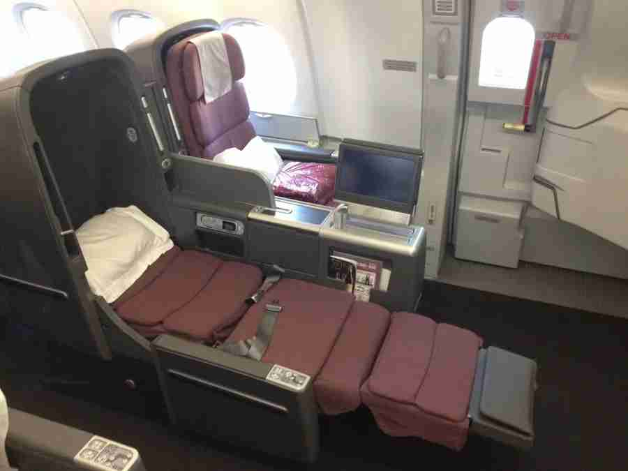 Qantas lie-flat busines class