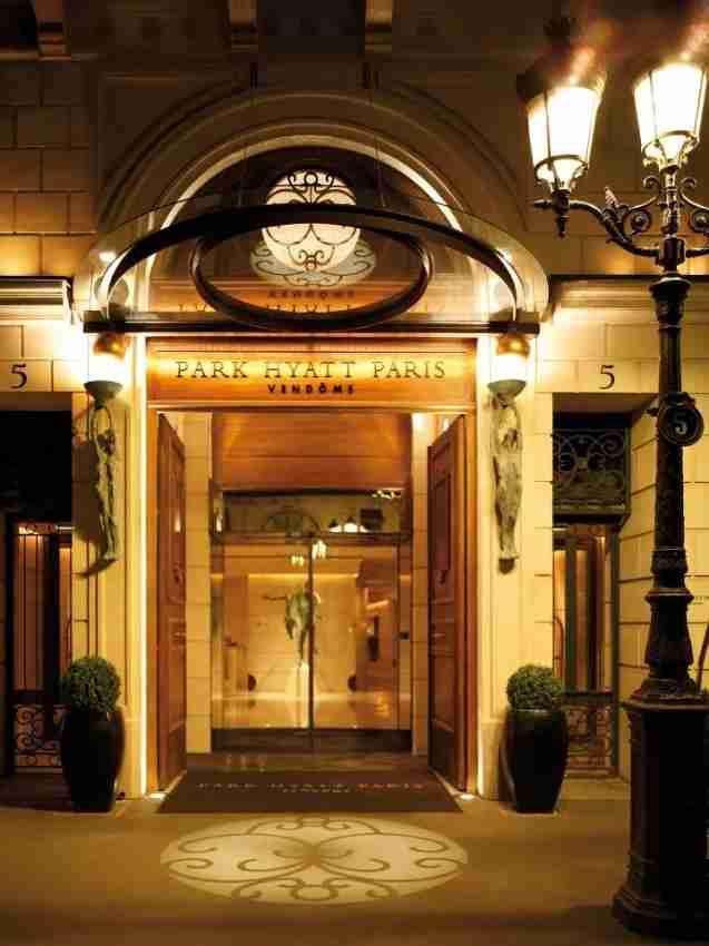 The luxurious Park Hyatt Paris Vendome.