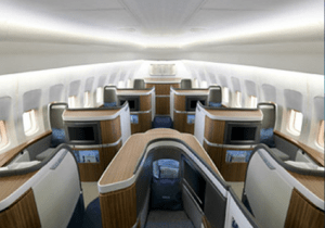 Minimalist yet luxurious, Cathay Pacific