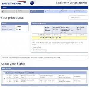 Maximizing British Airways Avios Direct Flights London