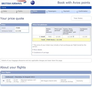 Maximizing British Airways Avios Direct Flights London