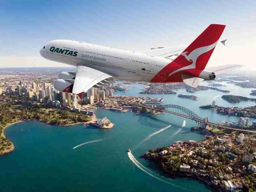 Qantas flies its A380 to Sydney. Image courtesy of Qantas.