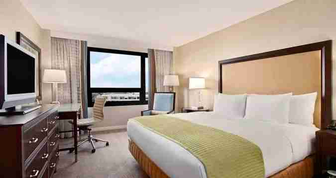 A newly-renovated Executive King Guest Room at the