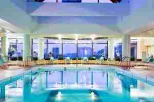 Take a dip in the indoor pool at the Boston Marriott Copley Place.