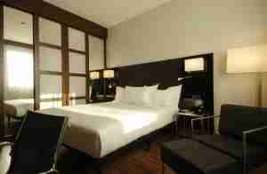 The AC Hotel Firenze features modern guest rooms.