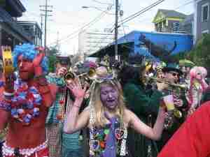 Hundreds of thousands of people flock to New Orleans for Mardi Gras every February.