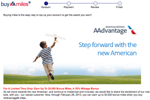 American is also offering a bonus of up to 50% on purchased miles this month.