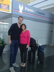 Checking in with mom for our trip to Chile!