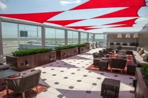 Delta's new Sky Deck at the new Terminal 4 at JFK.