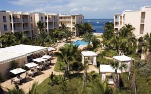 The oceanfront Marriott Beachside Hotel.