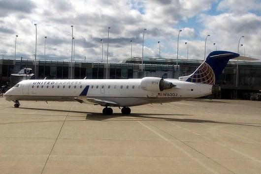 United Express services Santa Maria Airport.