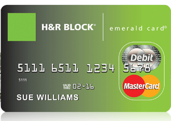 h and r block emerald card number