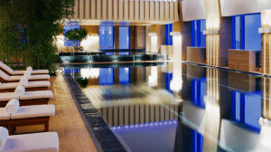 Indoor lap pool at the Park Hyatt Beijing.