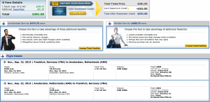 Lufthansa Frankfurt- Amsterdam flights would count if booked through United.
