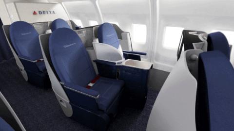 Delta Unveils New 757 200 Transcon Interior Upgrade Coming To