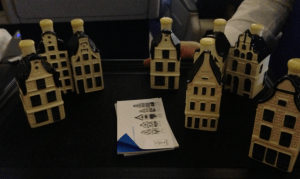 The gift of a Delft Miniature house is always a treat, especially when it is filled with 'Dutch courage!'