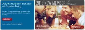 Delta SkyMiles Dining has a 1,500 bonus offer.