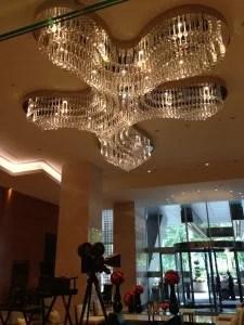 Fancy lobby area.
