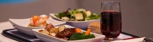 US Airways offers a meal on board flights greater then 3.5 hours.