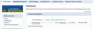 Be sure to choose US Airways Dividend Miles as your reward preference.