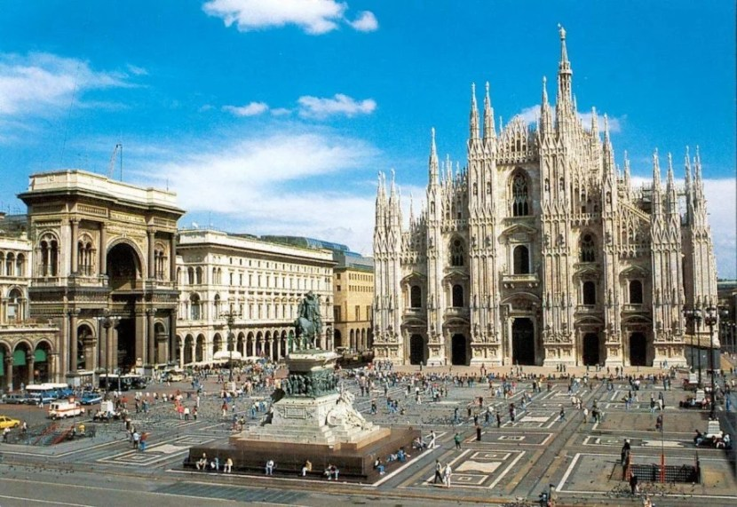 The gorgeous Duomo in central Milan