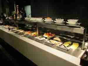 The breakfast buffet had plenty of options.
