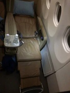 The seat was comfortable but not amazing.