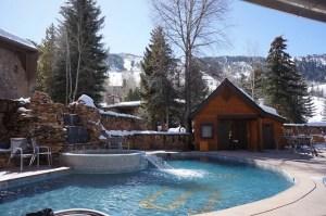 The pool at Aspen's Sky Hotel