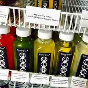 A few of the detoxifying juices from L.A.