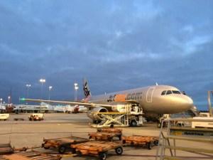 Al fresco boarding - our plane waits to take us to Hamilton Island.