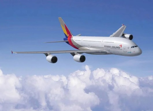 The Asiana A380 planes will start flying to Los Angeles on July 30, 2014.