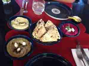 The hummus was some of the best I