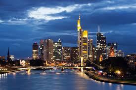 "The Frankfurt skyline is often called ""Mainhattan"" after NYC"